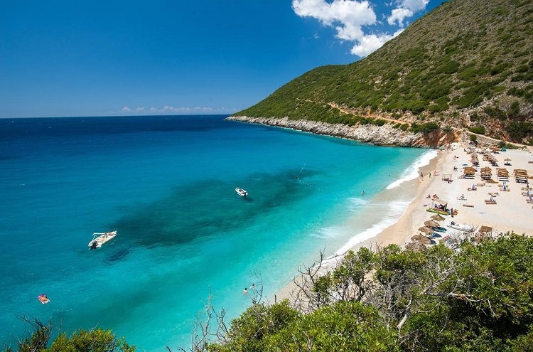 Gjipe beach near Himarë in southern Albania is ideal for outdoor enthusiasts and adventurers.