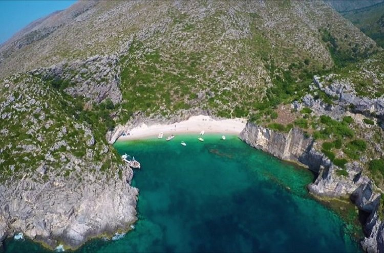 Grama Bay is an outcast small beach in the Karaburun peninsula.