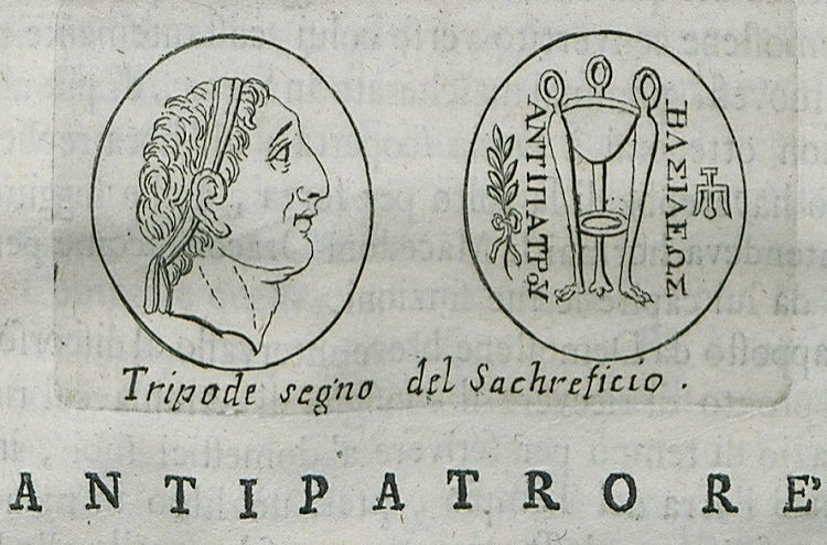 King Antipater by Fanelli Francesco.  Antipater, governor then king of Macedon, ordered the assassination of Cleopatra to prevent her marrying Ptolemy, his rival. The marriage would allow Ptolemy to claim an Argead descent and thus, a legitimacy over the whole Macedonian territories conquered by Alexander the Great.