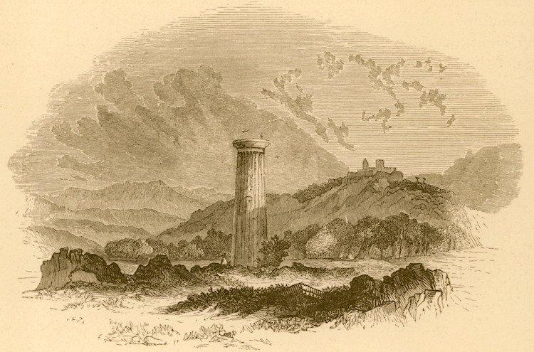 A Doric Column in Apollonia - Christopher Wordsworth-1882.