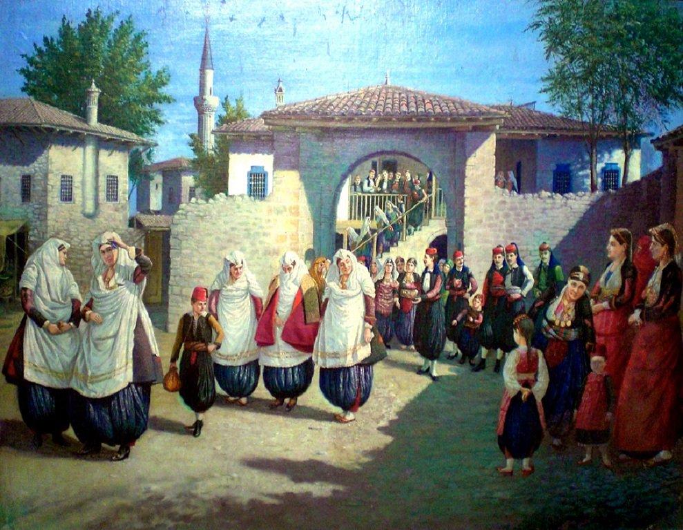 Wedding in Shkodra (Dasma Shkodrane), 1924 – Kolë Idromeno (1860-1939).