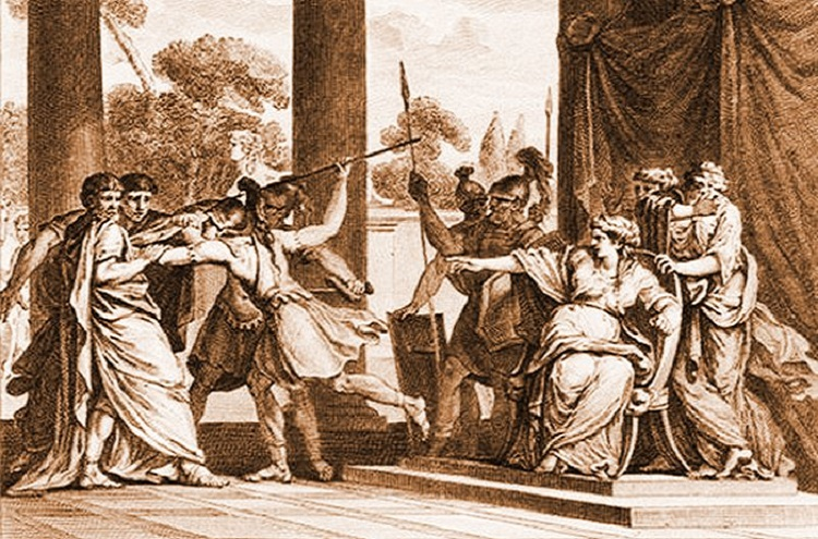 Teuta orders the assassination of the Roman envoy.
