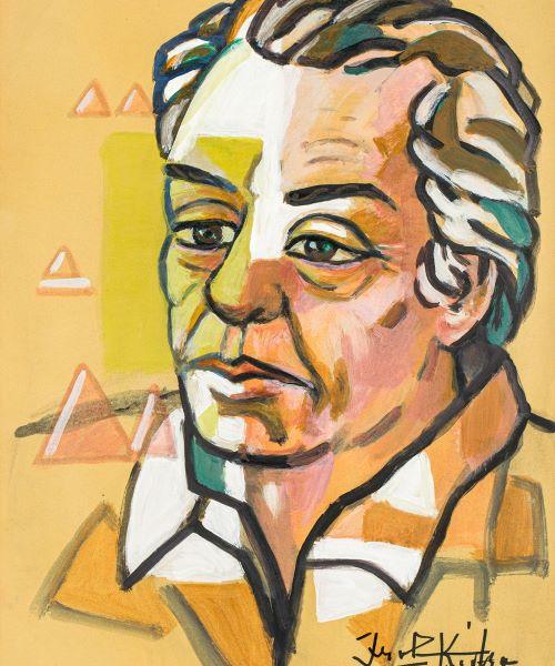 """""""Vetë portret"""" (""""Self-portrait"""") - Ibrahim Kodra."""