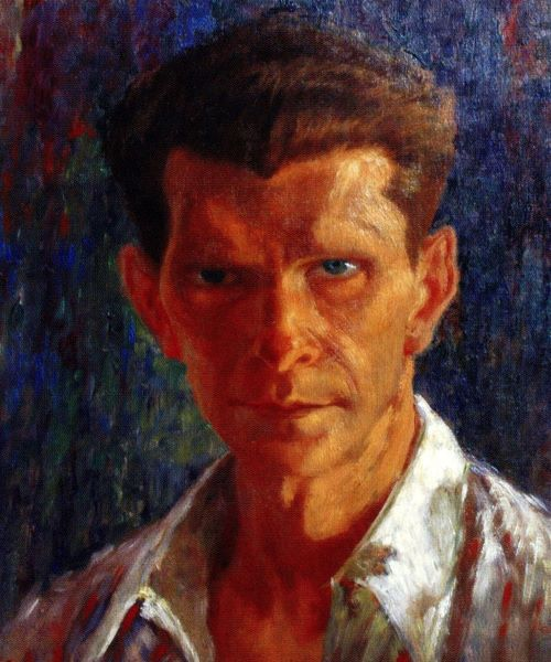 """Vetë portret"" (""Self-portrait"") - Zef Kolombi - 1947 - National Art Gallery, Tirana."