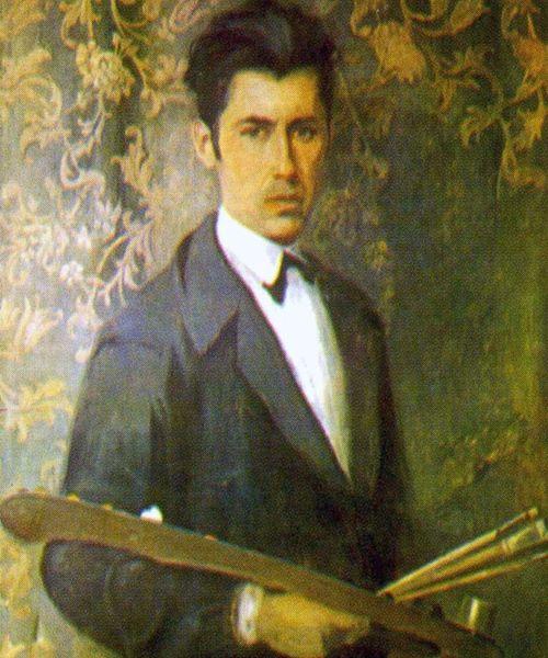 """""""Vetë portreti"""" (""""Self-portrait"""") - Vangjush Mio - 1939 - Vangjush Mio Museum, Korça."""