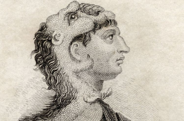 Portrait of Philip II who spent at least two years as a young prince in Illyria and at most ten years; later became the king of Macedon who defeated Bardylis.