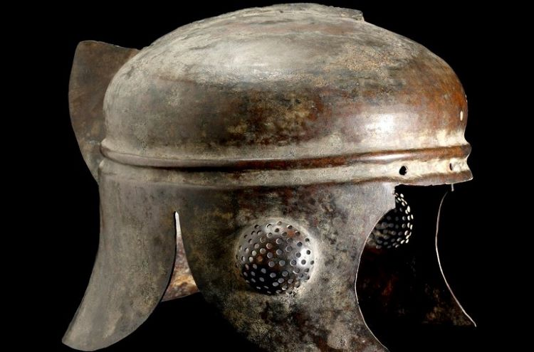 Illyrian bronze helmet of the III century B.C.E.; this particular type provided beater hearing and vision; attachments for decorative elements such as horsehair according to rank are visible in the picture. Credit: https://archaicwonder.tumblr.com/post/67582405232/pseudo-illyrian-hellenistic-bronze-helmet-circa.
