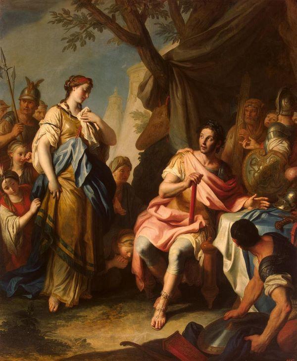 Alexander The Great and Roxane (1756) by Pietro Antonio Rotari (1707–1762). Hermitage Museum, Saint Petersburg, Russia.