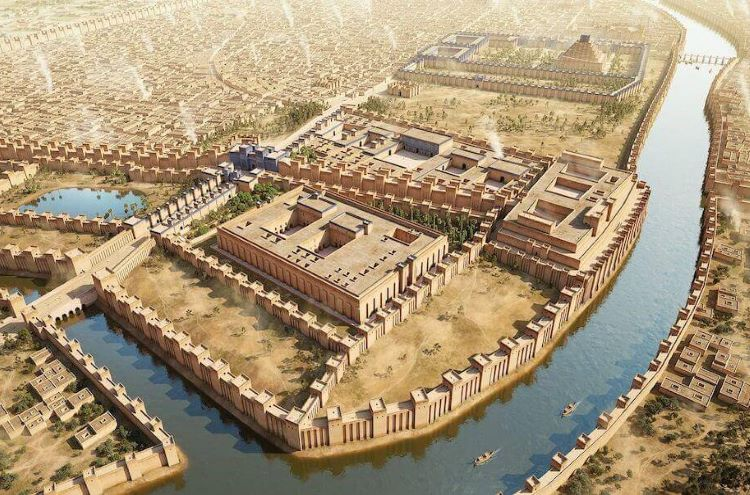 Graphic reconstruction of ancient Babylon.