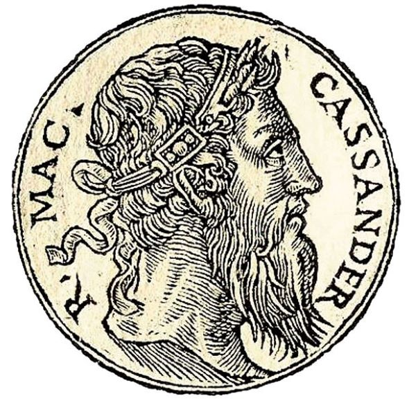 Portrait of an aged Cassander.