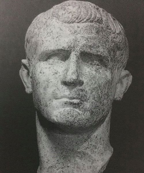 Portrait of Agrippa find near the theater of Buthrotum or Butrint.