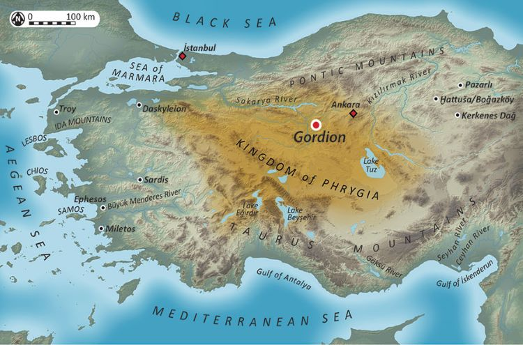 Map of ancient Asia Minor.