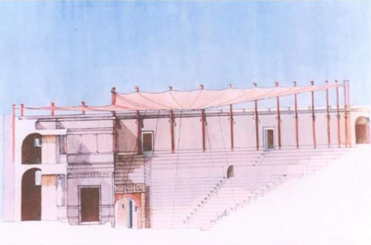 Illustration of the Butrint Theater by Guri Pani.