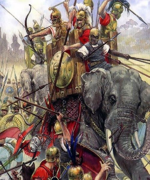 Illustration of the Battle of Beneventum.